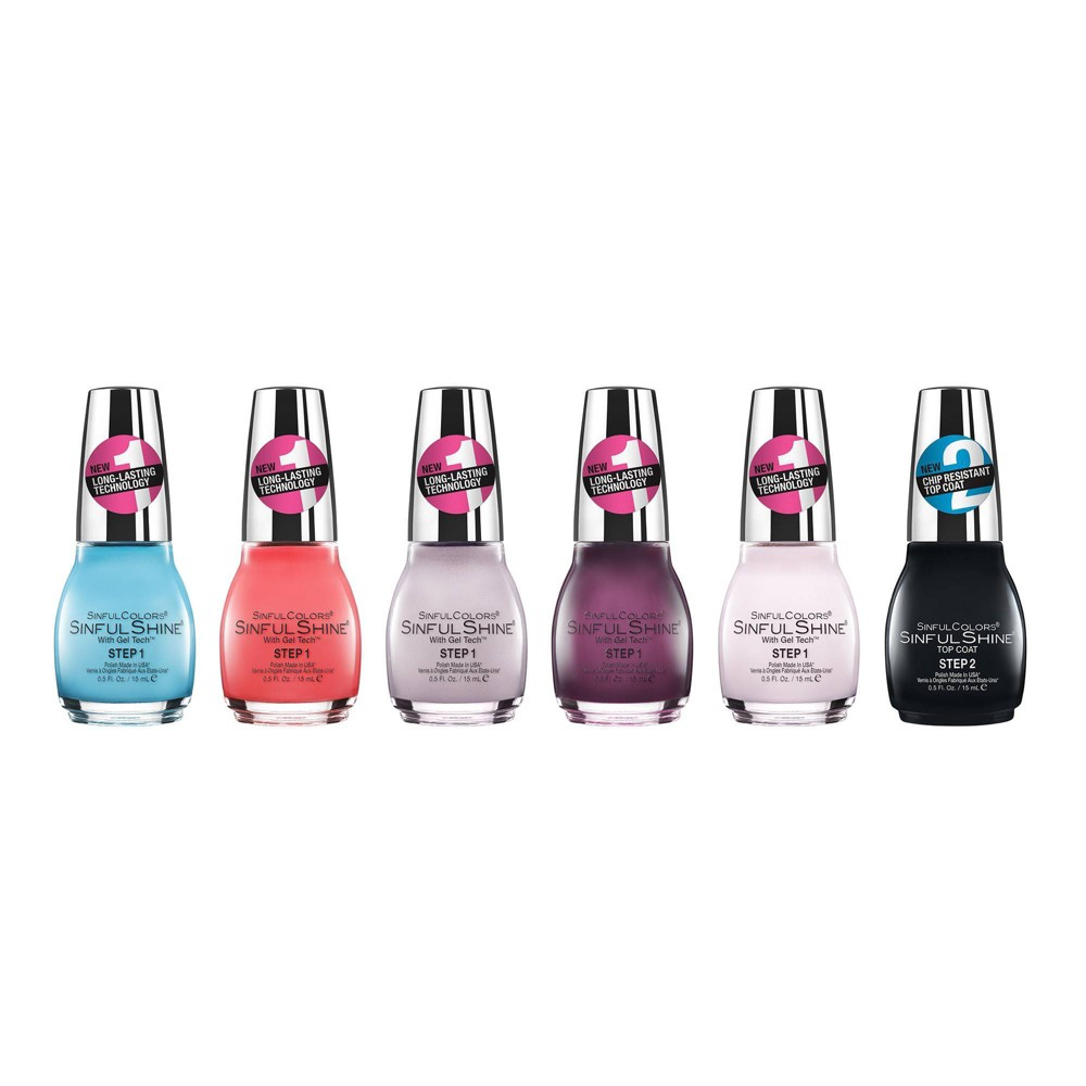 Image of SinfulColors Creme Nail Polish Collection - 6ct