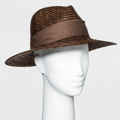 Women's Straw Panama Hat - A New Day™ One Size - image 1 of 1
