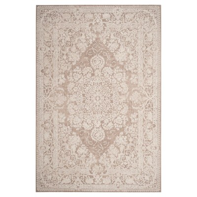 Beige/Cream Medallion Loomed Area Rug 8'X10' - Safavieh