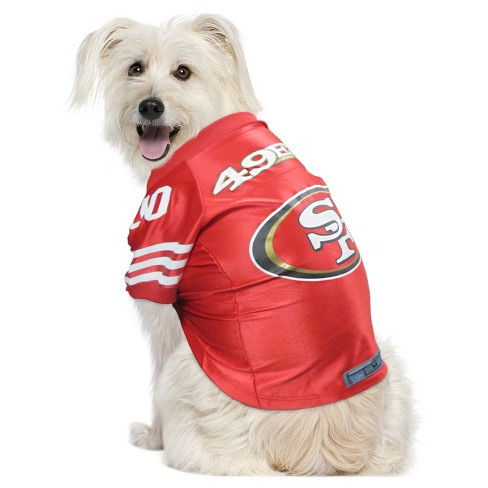 San Francisco 49ers Little Earth Pet Premium Football Jersey - Red XS    Target 78b16aa62
