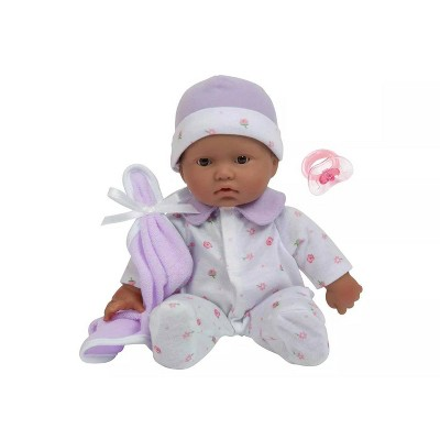 "JC Toys La Baby 11"" Baby Doll - Purple Outfit"