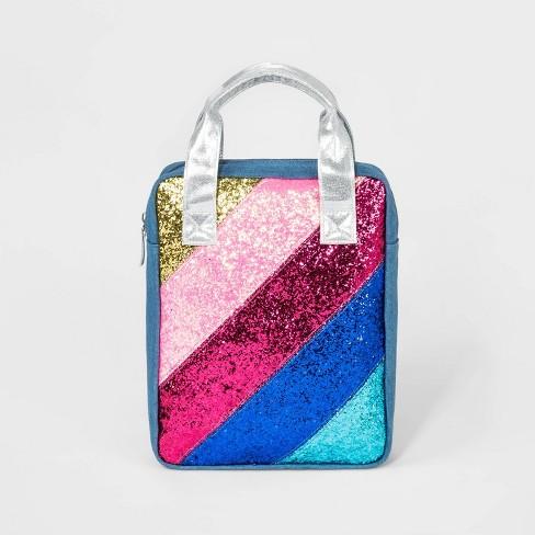 Girls' Rainbow Glitter Backpack - Cat & Jack™ - image 1 of 3