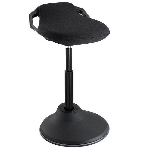 Astonishing Monoprice Sit Stand Dynamic Stool Black With Angled Seat Non Slip Weighted Base Air Lift Height Adjustable Workstream Collection Theyellowbook Wood Chair Design Ideas Theyellowbookinfo