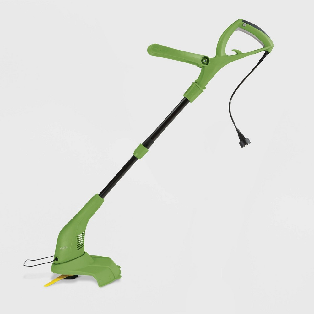 Image of 120V 4.5Amp 11.5 Electric Sharper Blade 2 In 1 Stringless Grass Trimmer And Edger Green - Martha Stewart