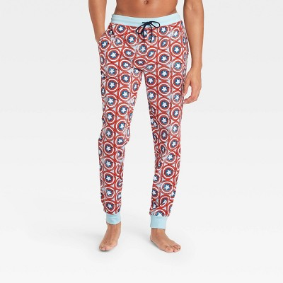 Men's Captain America Lounge Jogger Pajama Pants - Navy
