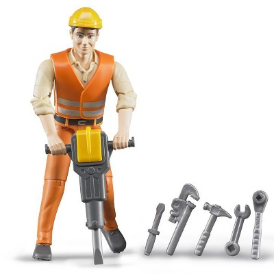 Bruder Construction Worker with Tools and Accessories