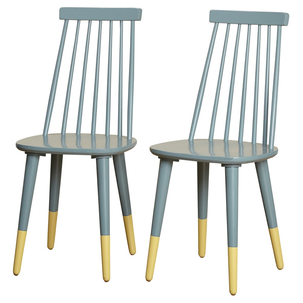 Image of Set of 2 Hermosa Dining Chair Antique Blue - Angelo:Home