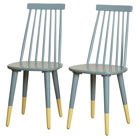 Set of 2 Hermosa Dining Chair Antique Blue - Angelo:Home - image 1 of 2
