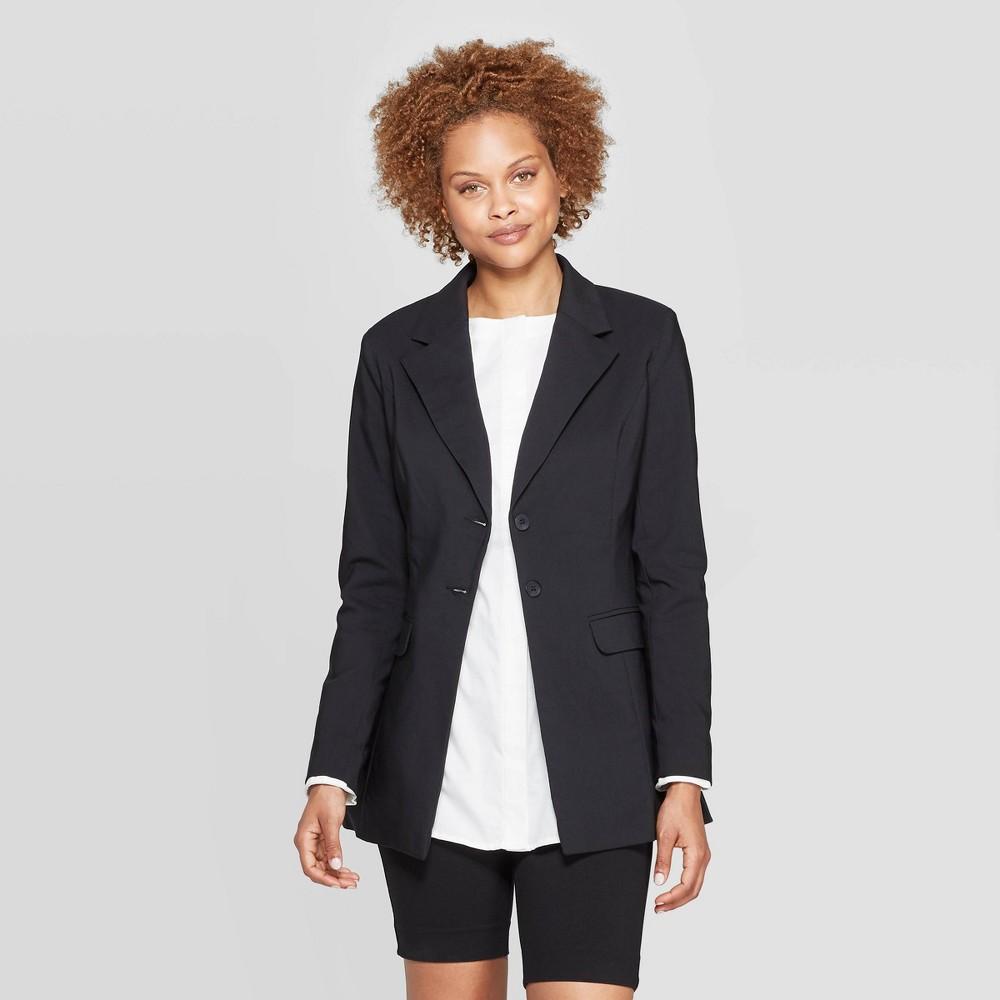 Women's Long Sleeve Button-Down Blazer - Prologue Black 14