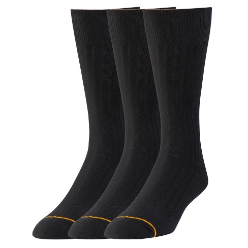 Signature Gold by GOLDTOE® 3pk 6x2 Rib Crew-Black 6-12 - image 1 of 2