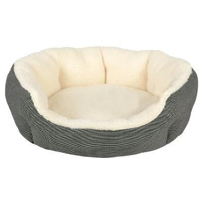 Dot Cuddler Pet Bed - M - Black - Boots & Barkley™