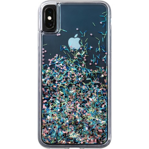 iphone xs max case glitter liquid