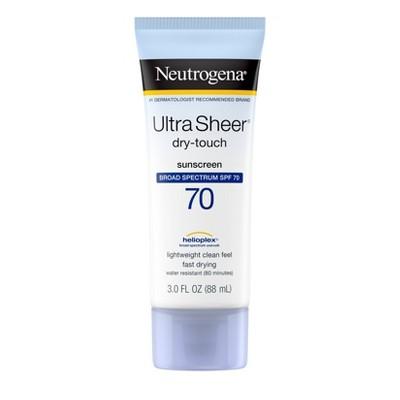 Neutrogena Ultra Sheer Sunscreen Lotion - SPF 70 - 3 fl oz
