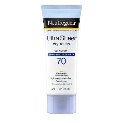 Neutrogena Ultra Sheer Dry- Broad Spectrum Touch Sunscreen - SPF 70 - 3oz - image 1 of 4
