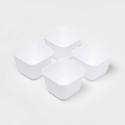 4pk Small Storage Trays White - Room Essentials™