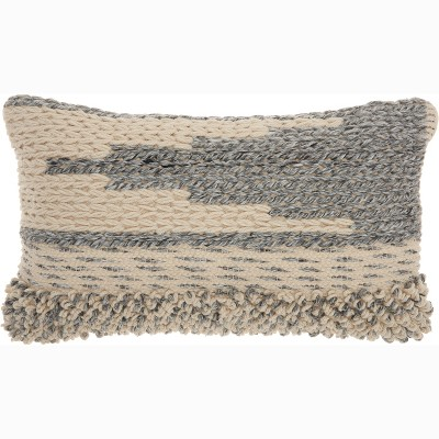Texture Gradient Lumbar Throw Pillow - Mina Victory