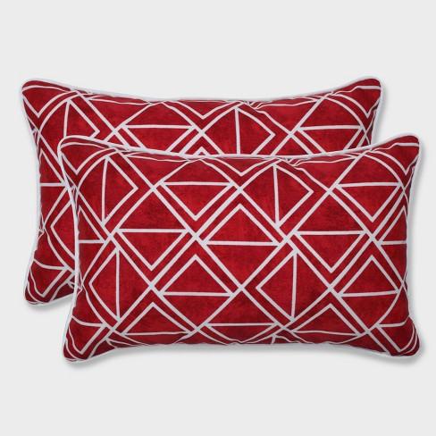 2pk Lanova Le Rectangular Throw Pillows Red Pillow Perfect