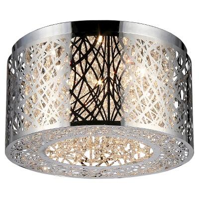 Warehouse Of Tiffany Ceiling Lights - Chrome (17 X 17 X 9 )
