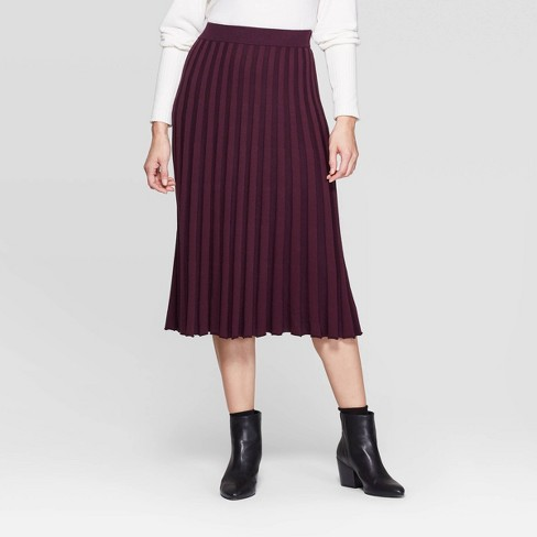 Women's Mid-Rise Sweater Skirt - A New Day™ - image 1 of 3