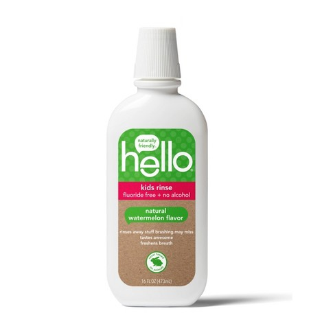 hello Kids Natural Watermelon Fluoride Free Rinse, Alcohol Free and Vegan, 473ml - image 1 of 5
