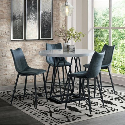 5pc Conner Counter Height Dining Set White - Picket House Furnishings