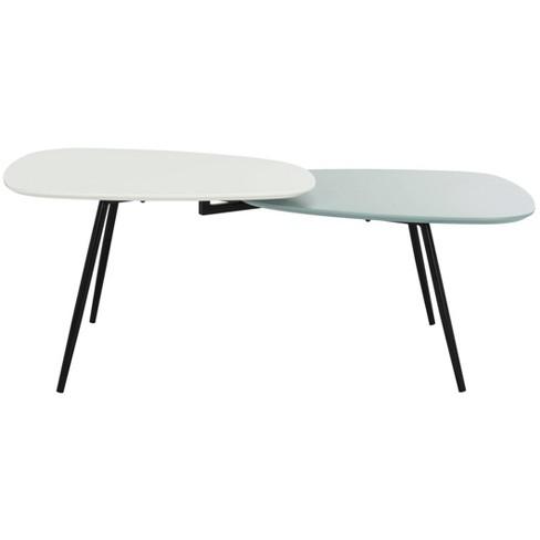 Jasmine Bi Level Coffee Table - White / Gray - Safavieh - image 1 of 4