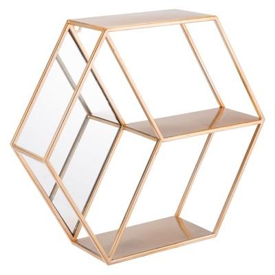 ZM Home 17  Modern Storage Shelf Gold