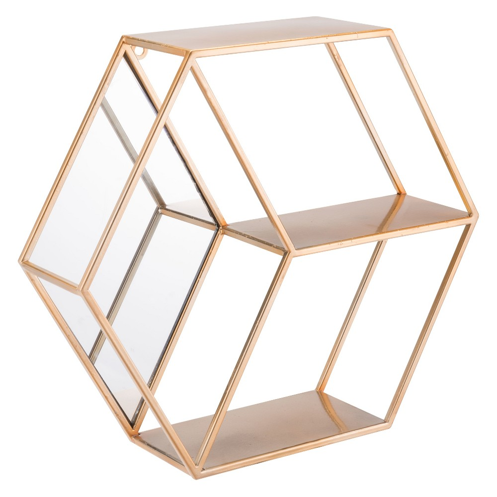 ZM Home 17 Modern Storage Shelf Gold