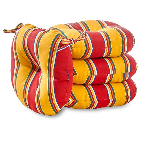 "4pk 15"" Carnival Stripe Outdoor Bistro Chair Cushions - Kensington Garden - image 1 of 3"