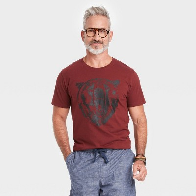 Men's Classic Fit Short Sleeve Printed T-Shirt - Goodfellow & Co™ Red