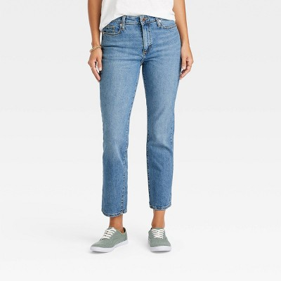 Women's High-Rise Straight Cropped Jeans - Universal Thread™