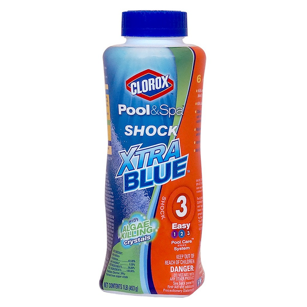 Clorox Shock Xblue 1lb, Blue