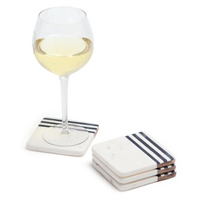 Marble/Wood Coasters - Set of 4 - Go Home