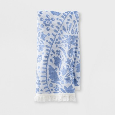 Hand Towel Paisley Flat Weave Hand Towel Capri Blue Bath Towels And Washcloths Capri Blue - Opalhouse™