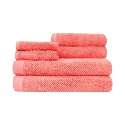 6pc Adele Bath Towel Set Pink - CARO HOME