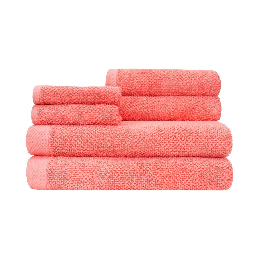 Image of 6pc Adele Towel Set Pink - Caro Home