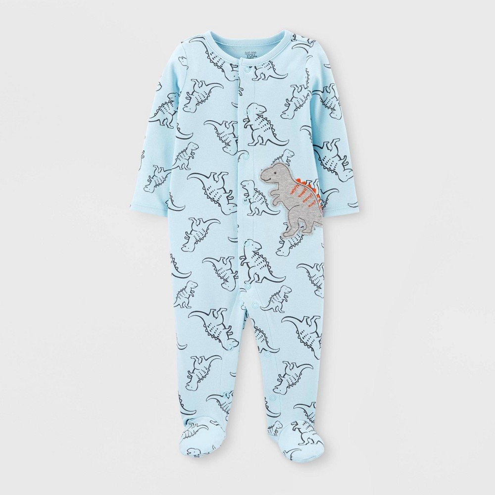 Image of Baby Boys' Dino Interlock Sleep 'N Play - Just One You made by carter's Blue 3M, Boy's