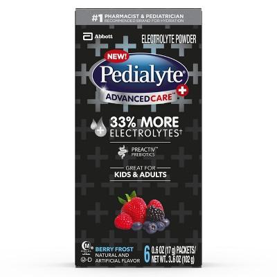 Pedialyte AdvancedCare Plus Electrolyte Powder - Berry Frost - 3.6oz Total