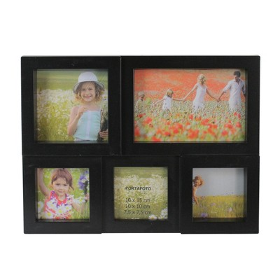 "Northlight 11.5"" Black Multi-Sized Puzzled Collage Photo Picture Frame Wall Decoration"