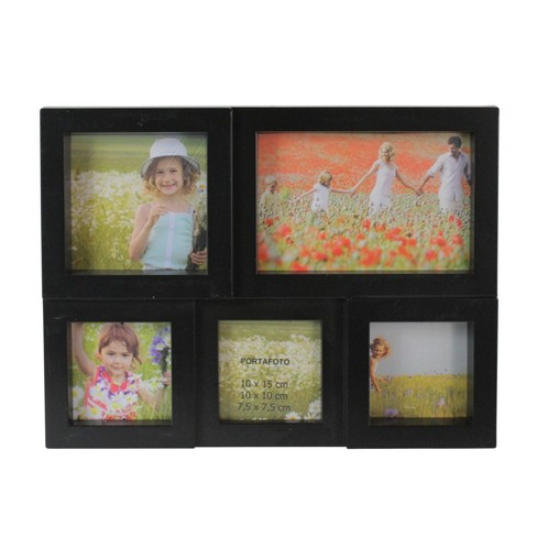 """Northlight 11.5"""" Black Multi-Sized Puzzled Collage Photo Picture Frame Wall Decoration - image 1 of 3"""