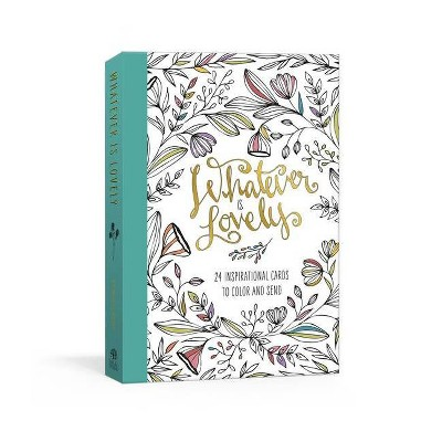 Whatever Is Lovely Postcard Book - by Ink & Willow (Hardcover)