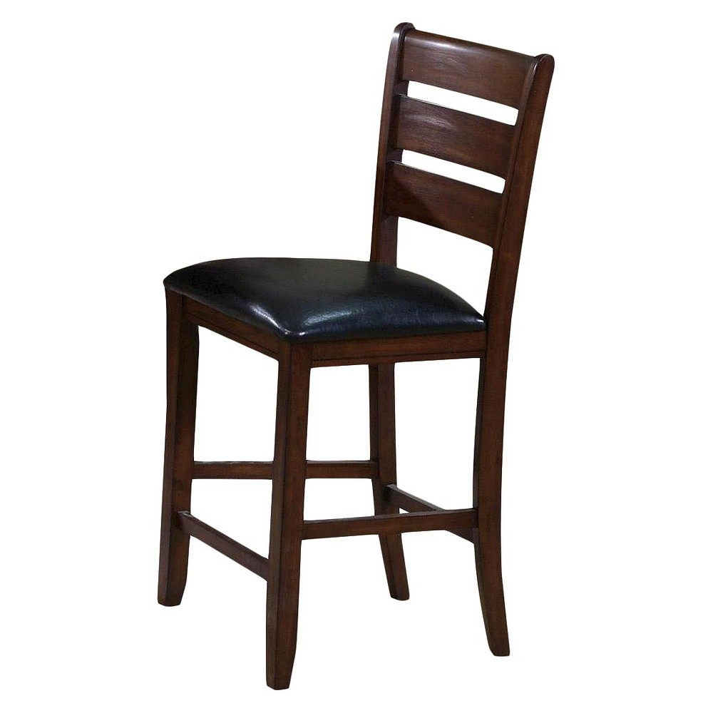 Urbana Counter Height Dining Chair Wood/Cherry (Red)/Black (Set of 2) - Acme