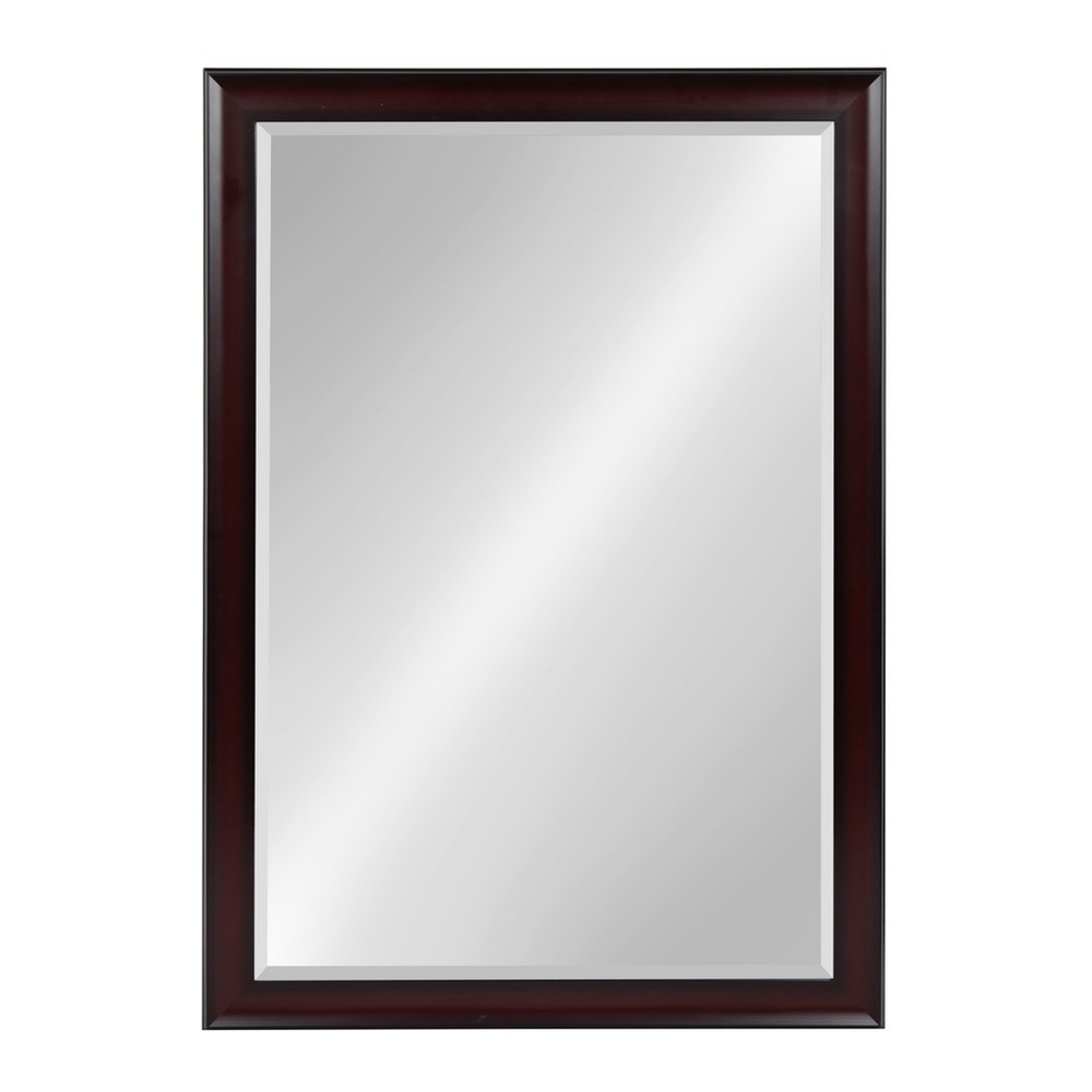 """Image of """"Kate & Laurel 28""""""""x40"""""""" Scoop Framed Beveled Decorative Wall Mirror Cherry Red"""""""