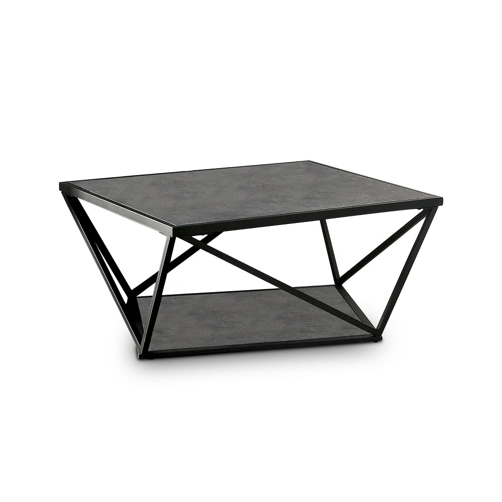 Reviews Square Caroline Coffee Table Black - miBasics