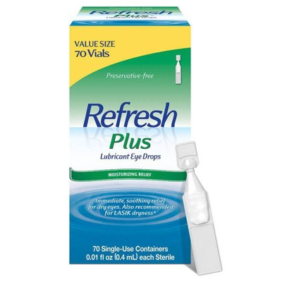 Refresh Plus Preservative Free Lubricant Eye Drops - 70ct