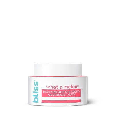 view Bliss What a Melon De-Stressing Overnight Mask - 1.7 fl oz on target.com. Opens in a new tab.