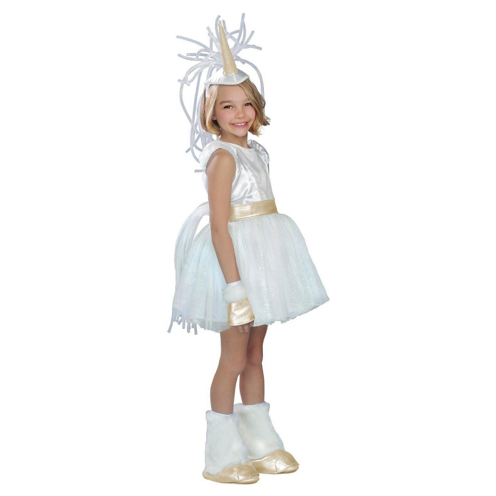 Girls' Unicorn Costume M(8-10), Multicolored