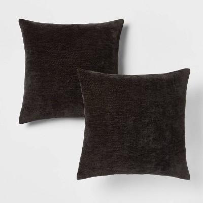 2pk Chenille Square Throw Pillows - Threshold™