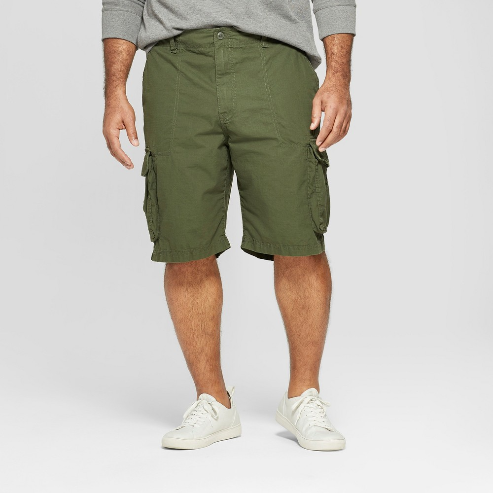 Men's Big & Tall 11 Cargo Shorts - Goodfellow & Co Green 48, Late Night Green