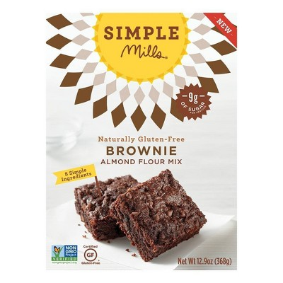 Simple Mills Brownie Almond Flour Mix   12.9oz by Simple Mills